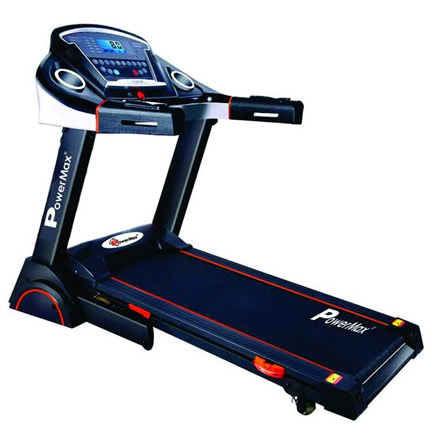 Powermax Fitness TDA-230 2HP (4HP peak) Motorized Treadmill with Auto Incline, Auto-lubrication (Warranty: Motor-3 yrs; Other parts-1yr; Frame:Lifetime)