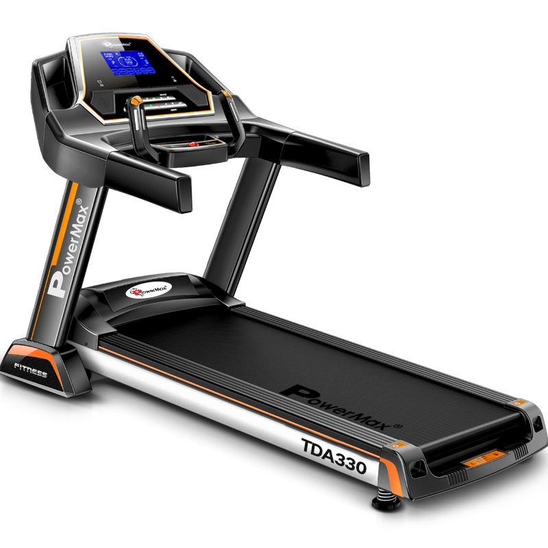 Powermax Fitness TDA-330 3HP (6HP peak) Motorized Treadmill with Auto-Inclination(Warranty: Motor-3 yrs; Other parts-1yr; Frame:Lifetime)